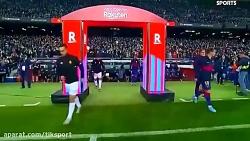 بارسلونا 5 - مایورکا 2 ، هتریک مسی در شب رونمایی از کفش طلای ششم