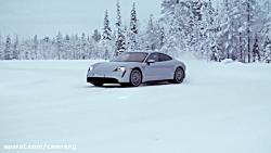 برترین خودرو الکتریکی 2020! تست رانندگی برفی خودرو سوپراسپرت Porsche Taycan 4S