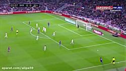 خلاصه بازی بارسلونا 5-2 مایورکا 2 با هتریک مسی