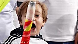 کودک بامزهی هوادار رئال که گلوی خود را برای راموس پاره کرد!