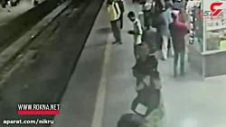 اقدام فداکارانه مامور مترو