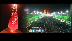 مراسم تعویض پرچم گنبد ا...