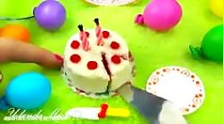 آموزش کیک تولد، مهمانی، جشن برای باربی