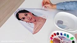 آموزش نقاشی عروس