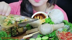 چآلش غذا خوری....فود آسمر...خوردن غذا های دریایی زنده  /FOOD ASMR