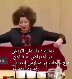 با حجاب شدن نماینده پارلمان اتریش