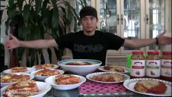 چالش خودن انواع غذاهای ایتالیایی (1۰,700 Calories)