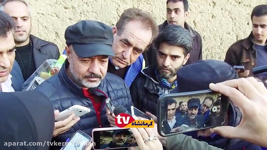 نون خ ، جواب های جالب سعید آقا خانی به خبرنگار زن کرمانشاهی ، نمی شه !!