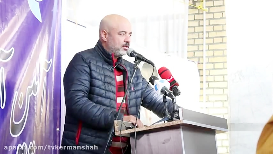 نون خ ،سعید آقا خانی پشت تریبون یادش رفت چی بگه ،خنده!!/ اختصاصی کرمانشاه تی وی