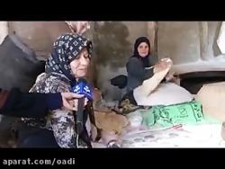 حجت الاسلام فرخی.کمک به سیل زدگان توسط اهالی امزاجرد