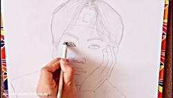نقاشی تهیونگ از بی تی اس