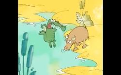 انیمیشن ایرانی حیات وحش حیوانات - کروکودیل