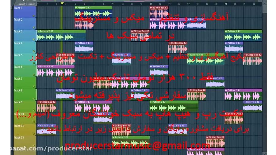 آهنگسازی و تنظیم میکس و مسترینگ و طراحی کاور موزیک و پخش اثر