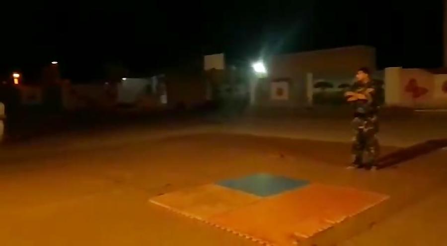 تمرین پشتک ازجلو_ باشگاه کاراته حیدر کرار