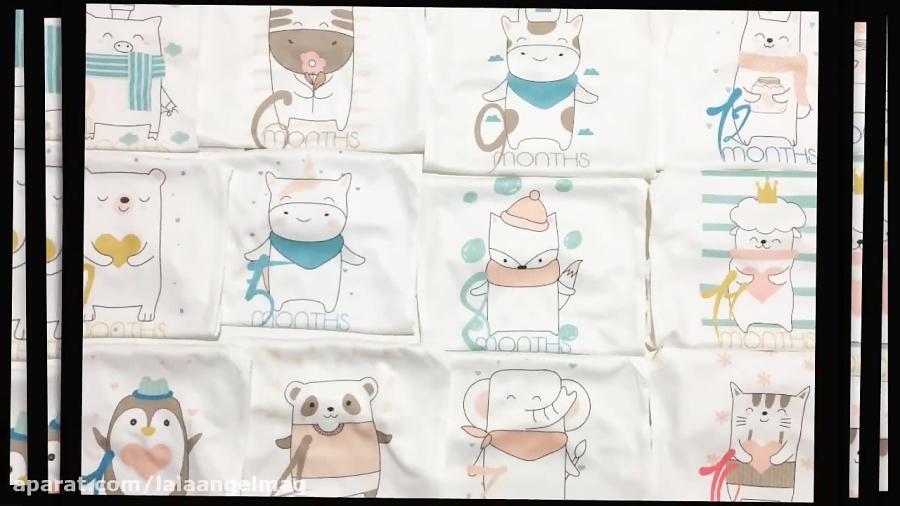 فروش لباس ماهگرد نوزاد طرح حیوانات