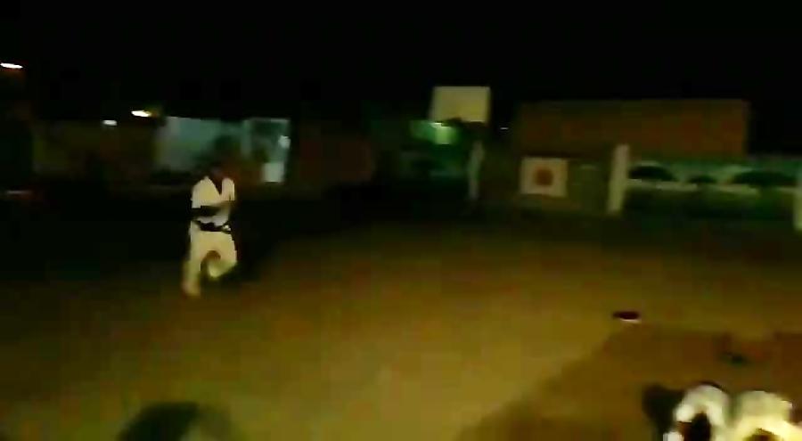 تمرین پریدن شیرجه ایی_ باشگاه کاراته حیدر کرار گمبوعه