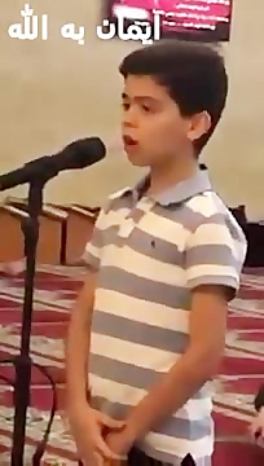 الله اکبر الله اکبر این طفلک 10 ساله با این آذان خود جهان اسلام را تکان داد