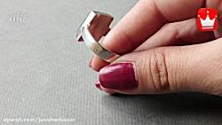 انگشتر نقره عقیق مشکی مردانه - کد 44760