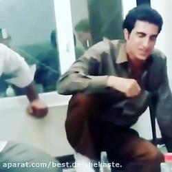 محسن لرستانی در کنار  جواد یساری