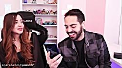 ویدیو میا چالش نخندیدن به ویدیو های خندهدار ایرانی با مجازات کرم