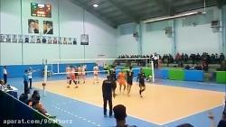 گزارش هفته چهارم لیگ یک والیبال ایران (شهرداری کرج- هوشیار تبریز)