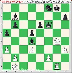 آموزش تخصصی  شطرنج تاکتیک کیش 2گانه (دوبل)
