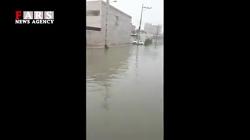 منازل مسکونی اهواز در محاصره آب