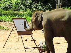تقاشی کشیدن فیل