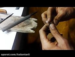 ساخت انگشتر طلا کار استاد میر حسنی