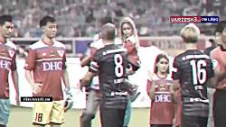 لحظات احساسی در زمین فوتبال