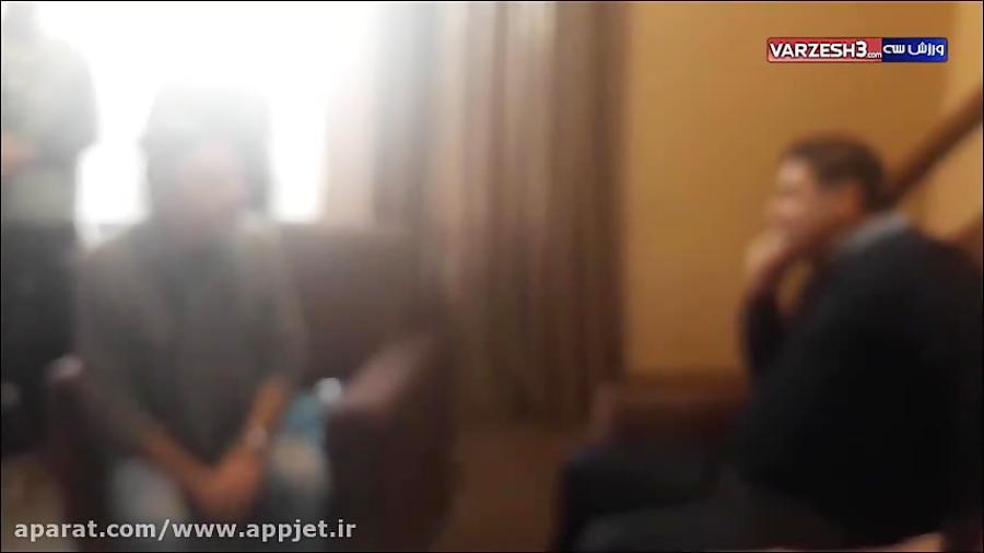 بهرام افشاری گلر ذخیره نساجی در سریال پایتخت
