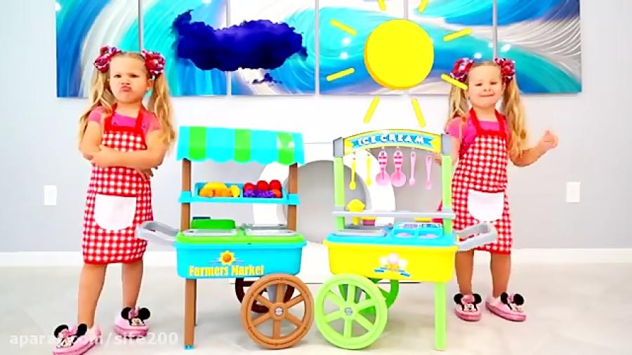 دیانا و روما بستنی فروشی