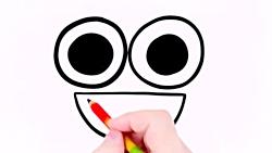 آموزش نقاشی کودکان - کشیدن و رنگ آمیزی ستاره دریایی