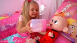 بازی دیانا و روما... دیانا و عروسک نوزاد