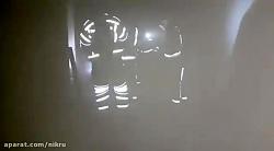 حادثه آتش سوزی مجتمع تجاری در حال ساخت در بزرگراه همت غرب