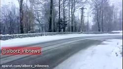 برف در جاده چالوس