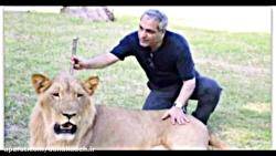 وقتی مهران مدیری با شیر و سگ و مارش، عکس می گیره