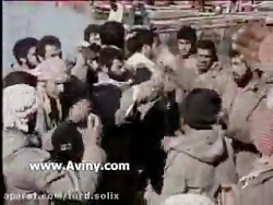 سینه زنی و مداحی رزمندگان در جبهه به زبان عربی