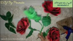 آموزش گل رز با کیسه پلاستیکی