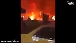 فیلم| حمله به خودروی حامل سردار حاج قاسم سلیمانی و ابومهدی المهندس