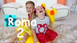 دیانا و روما - دیانا و روما با اسباب بازی خانه بازی میکنند