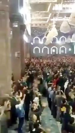شعار مرگ بر آمریکا برای اولین بار در حرم امام  حسین
