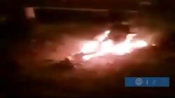 فیلم | خودرویی که سردار سلیمانی داخل آن بوده در بغداد