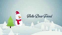 افترافکت تبریک کریسمس- Christmas  New Year Opener