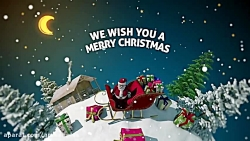 افترافکت تبریک کریسمس- New Year card 3D