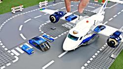 بازی با لگو اتومبیل، ماشین پلیس ، جرثقیل و ...