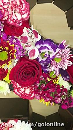 باكس حروف و اعداد با گلهاي فصلي