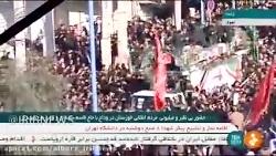 ورود خودرو حامل پیکر سردار شهید قاسم سلیمانی به خوزستان