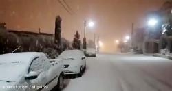 برف بامداد امروز عظیمیه کرج 15 دی
