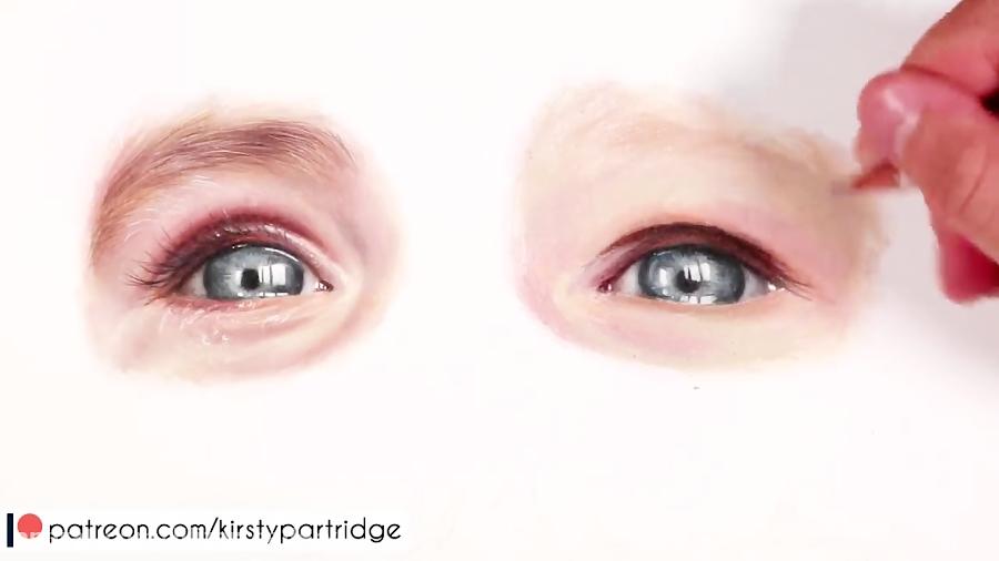 نقاشی پوست و چهره انسان با مخلوط کردن پنلهای رنگی